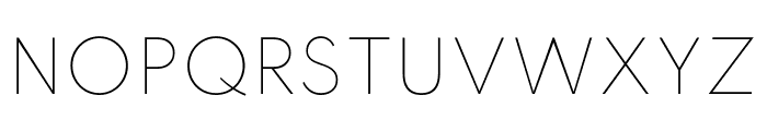 Spartan Thin Font UPPERCASE