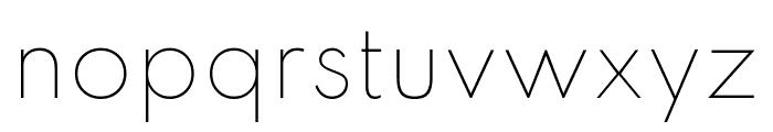 Spartan Thin Font LOWERCASE