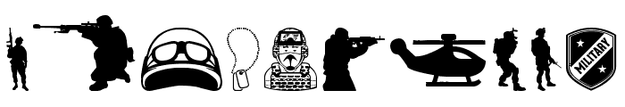 Special Forces Font OTHER CHARS