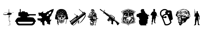 Special Forces Font UPPERCASE