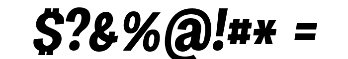 Specify PERSONAL Condensed Bold Italic Font OTHER CHARS