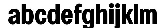 Specify PERSONAL Condensed Bold Font LOWERCASE