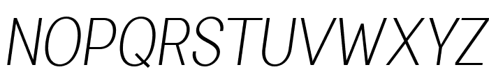 Specify PERSONAL Condensed Light Italic Font UPPERCASE