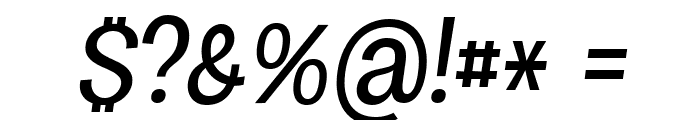 Specify PERSONAL Condensed Medium Italic Font OTHER CHARS