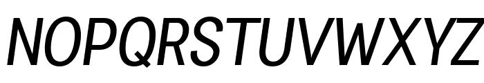 Specify PERSONAL Condensed Medium Italic Font UPPERCASE