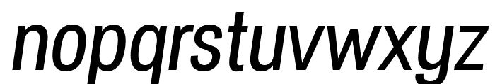 Specify PERSONAL Condensed Medium Italic Font LOWERCASE