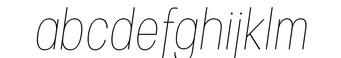 Specify PERSONAL Condensed Thin Italic Font LOWERCASE