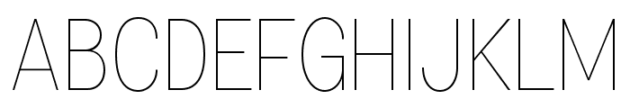 Specify PERSONAL Condensed Thin Font UPPERCASE