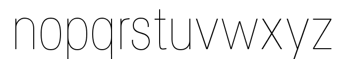 Specify PERSONAL Condensed Thin Font LOWERCASE