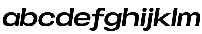 Specify PERSONAL Expanded Bold Italic Font LOWERCASE
