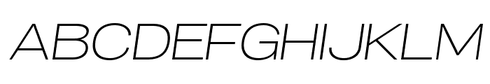 Specify PERSONAL Expanded Light Italic Font UPPERCASE