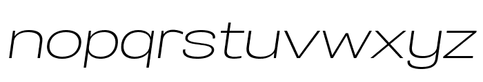 Specify PERSONAL Expanded Light Italic Font LOWERCASE