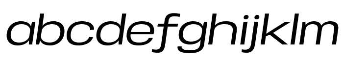 Specify PERSONAL Expanded Medium Italic Font LOWERCASE