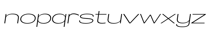 Specify PERSONAL Extraexpanded Light Italic Font LOWERCASE
