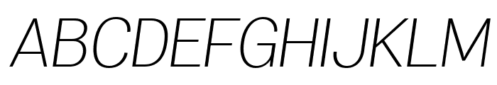 Specify PERSONAL Normal Light Italic Font UPPERCASE