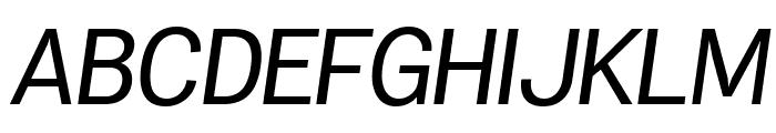 Specify PERSONAL Normal Medium Italic Font UPPERCASE