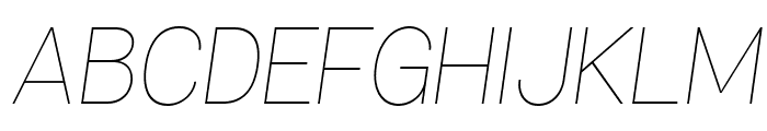 Specify PERSONAL Normal Thin Italic Font UPPERCASE