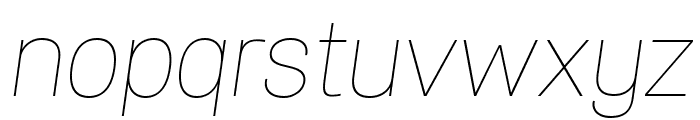 Specify PERSONAL Normal Thin Italic Font LOWERCASE
