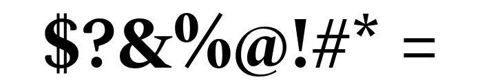 Spectral Bold Font OTHER CHARS
