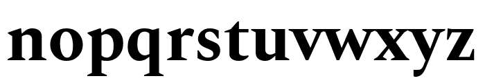 Spectral Bold Font LOWERCASE