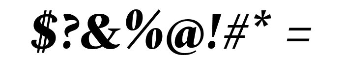 Spectral ExtraBold Italic Font OTHER CHARS
