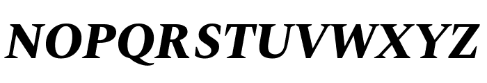Spectral ExtraBold Italic Font UPPERCASE