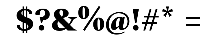 Spectral ExtraBold Font OTHER CHARS
