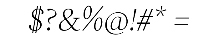 Spectral ExtraLight Italic Font OTHER CHARS