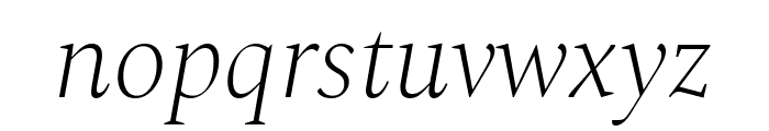 Spectral ExtraLight Italic Font LOWERCASE