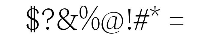 Spectral ExtraLight Font OTHER CHARS