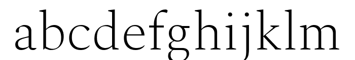 Spectral ExtraLight Font LOWERCASE