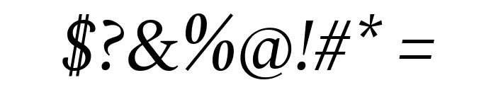 Spectral Italic Font OTHER CHARS