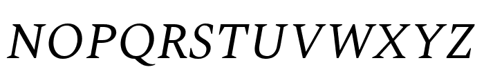 Spectral Italic Font UPPERCASE