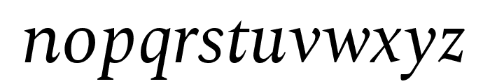 Spectral Italic Font LOWERCASE
