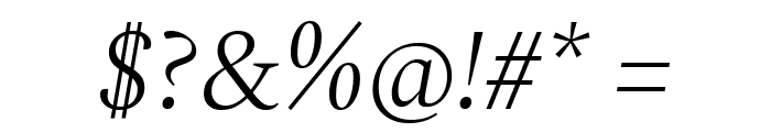 Spectral Light Italic Font OTHER CHARS