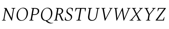 Spectral Light Italic Font UPPERCASE