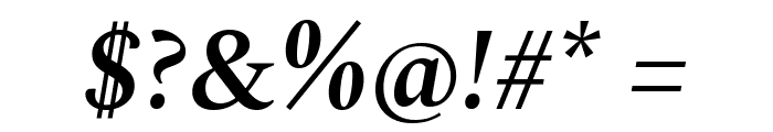 Spectral SemiBold Italic Font OTHER CHARS