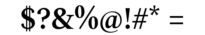 Spectral SemiBold Font OTHER CHARS