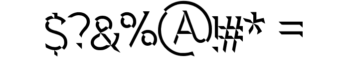 Spectre 007 Font OTHER CHARS