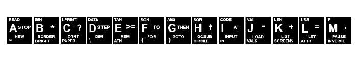 Spectrum Font UPPERCASE