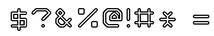Speculum Outline Font OTHER CHARS