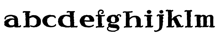 Speedball Ragged Font LOWERCASE