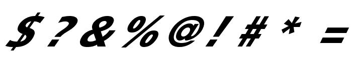 Speedy 12 Font OTHER CHARS