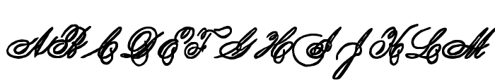 Spencerian Lady's Hand SW Font UPPERCASE