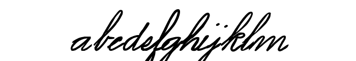 Spencerian Lady's Hand SW Font LOWERCASE