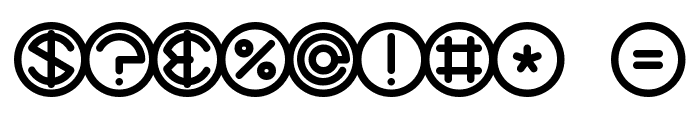 Spheroids BRK Font OTHER CHARS