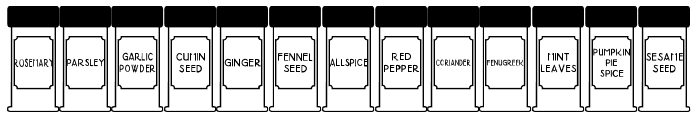 Spice Rack JL Font UPPERCASE