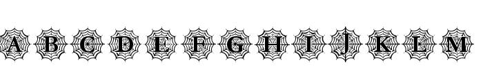 Spider_Web_Mono Font UPPERCASE