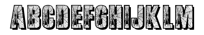 Spiders Font UPPERCASE