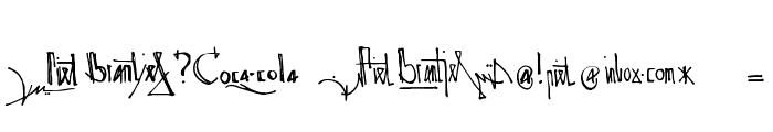 Spijker 08 Semi-condensed Regular Font OTHER CHARS